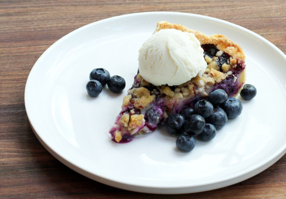 Blueberry Custard Pie With Streusel Topping