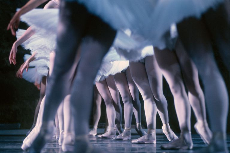 Dancers of the Russian ballet of Kirov during a performance of Swan Lake