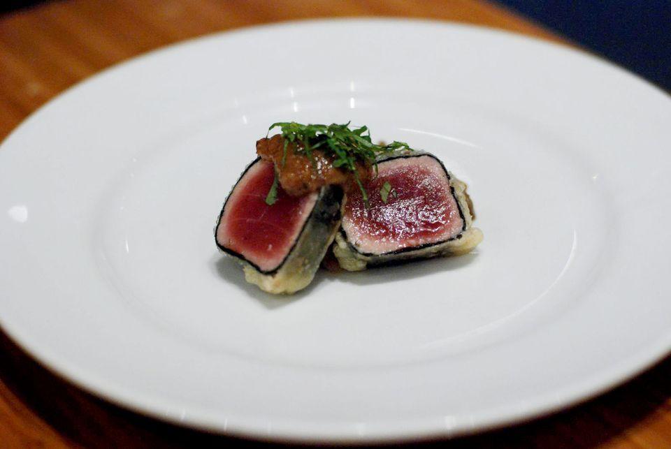 seared tuna at Tojo's