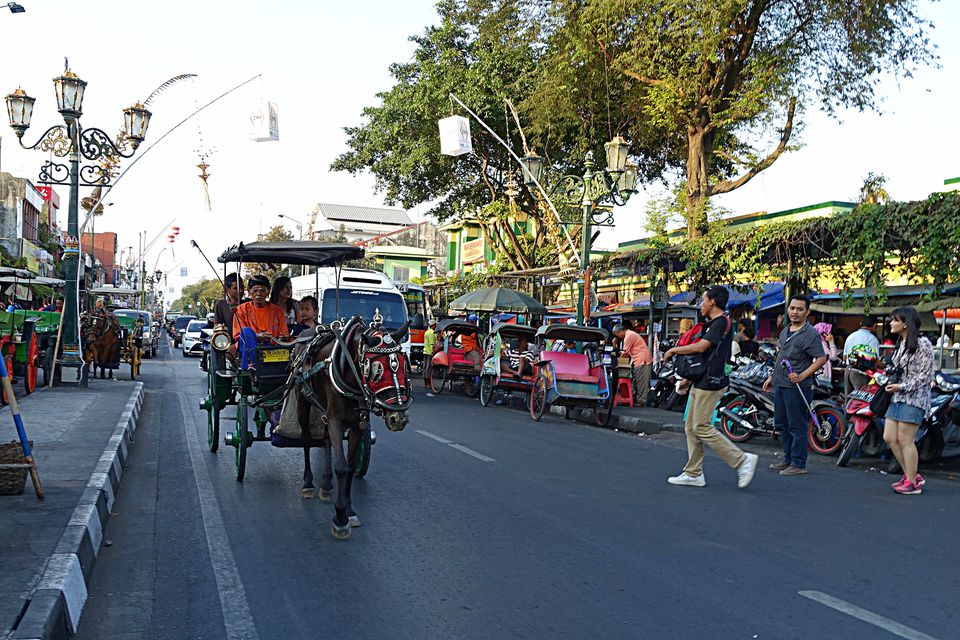 Horsecart on Malioboro, Yogyakarta, Indonesia