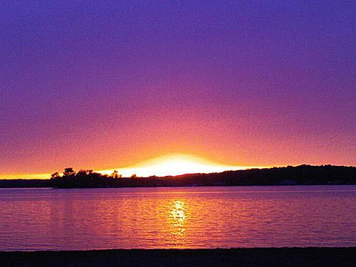 Sunset at Crooked Lake in Angola, IN