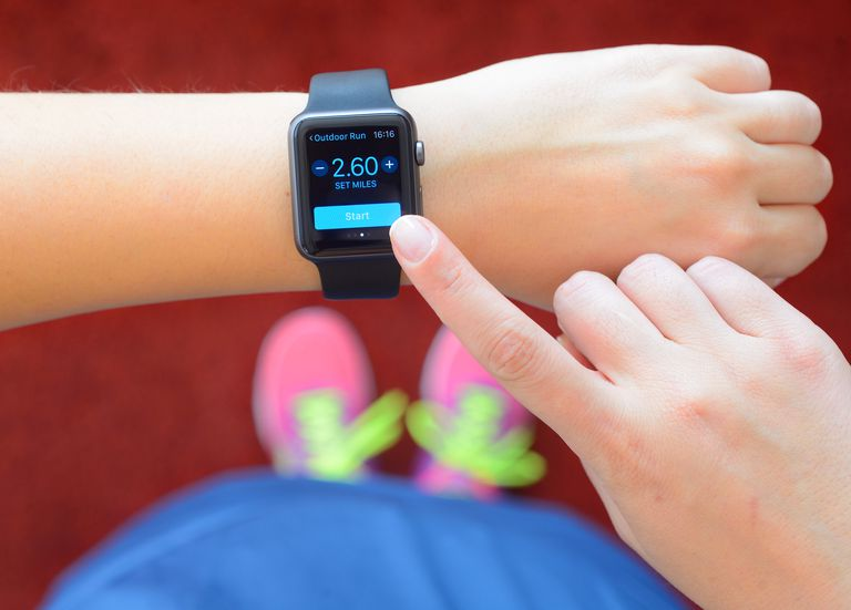 An Apple Watch on a person's wrist