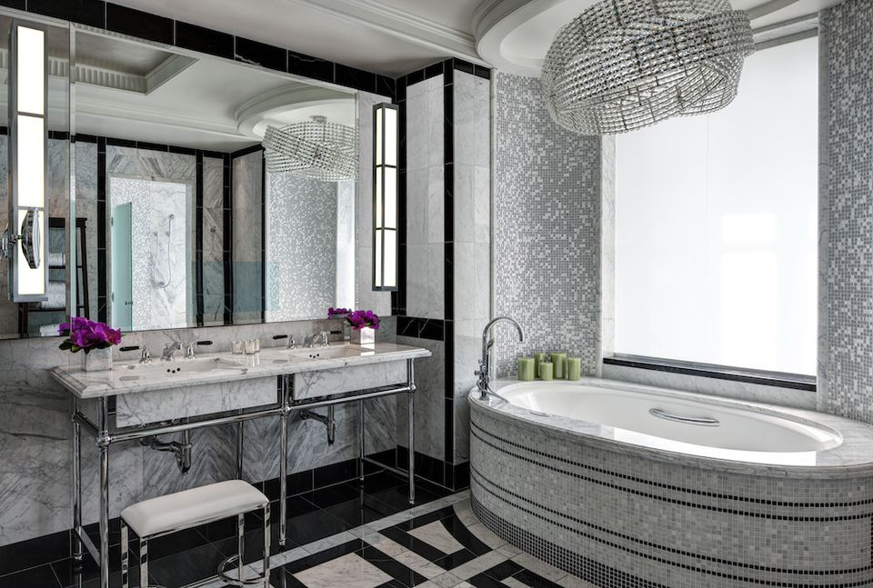 A tub inside the Presidential suite at the St. Regis in Manhattan, New York