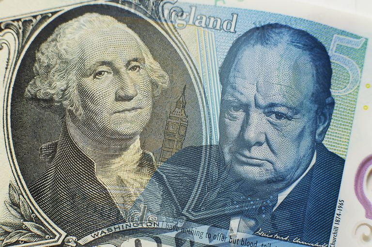 Dollar and Sterling close-up