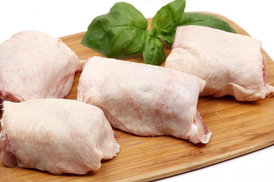 Fresh chicken thighs