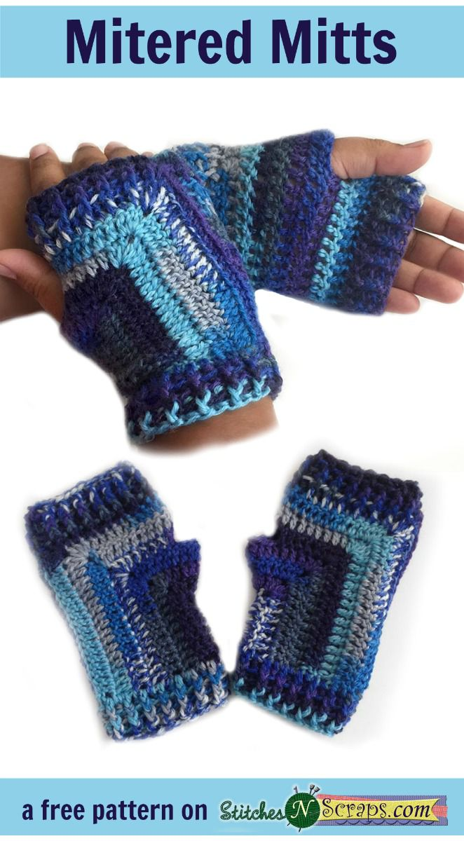 10 free crochet fingerless gloves patterns mitered mitts free crochet pattern bankloansurffo Choice Image
