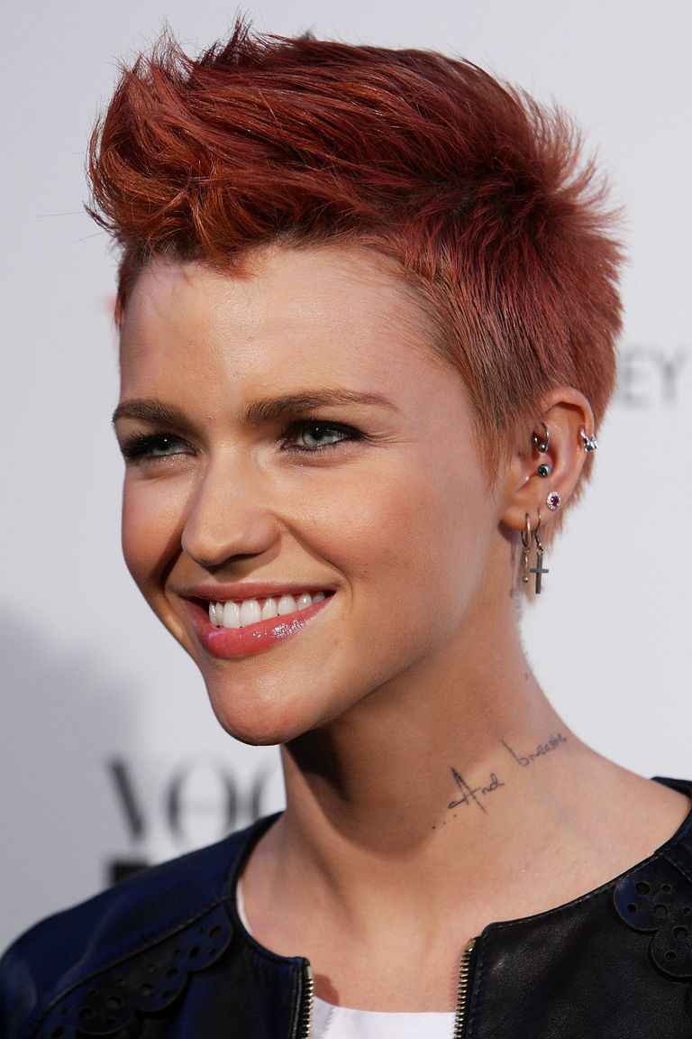 Hairstyles with quiff - Ruby Rose
