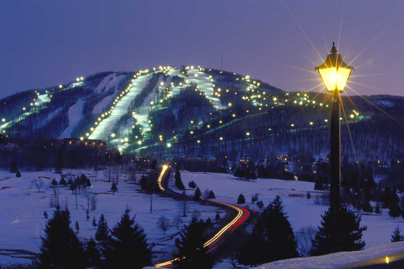 night skiing montreal quebec bromont
