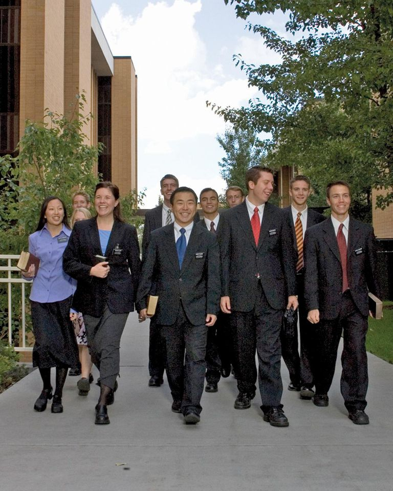 Missionaries at the Provo, Utah MTC.