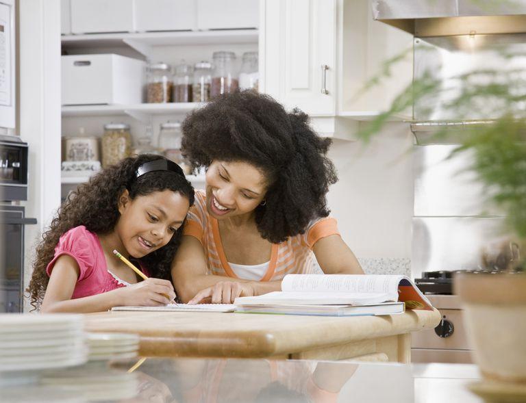 mother and daughter homework help - first grade math help