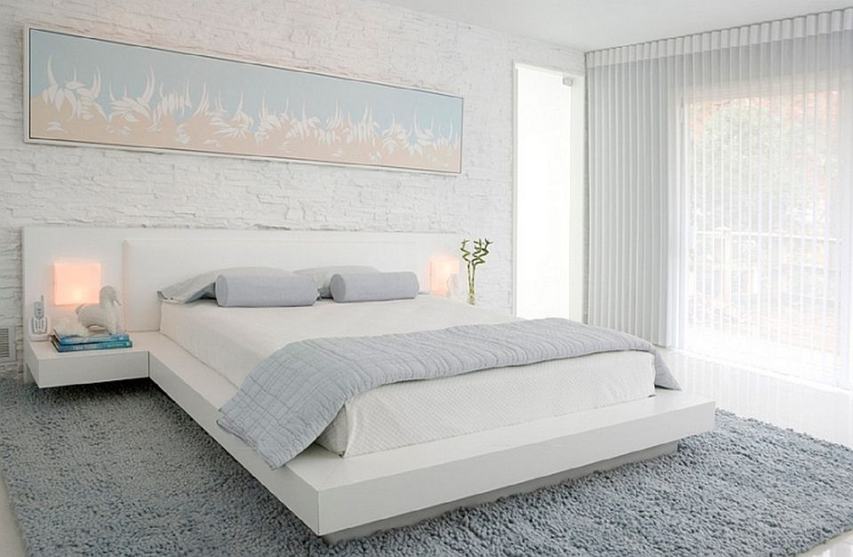white modern bedroom. Peaceful gray and white modern bedroom  25 Modern Master Bedroom Ideas Tips Photos