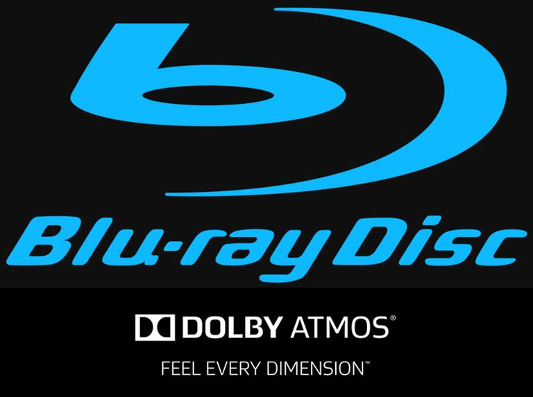 Blu-ray Disc Logo With Dolby Atmos
