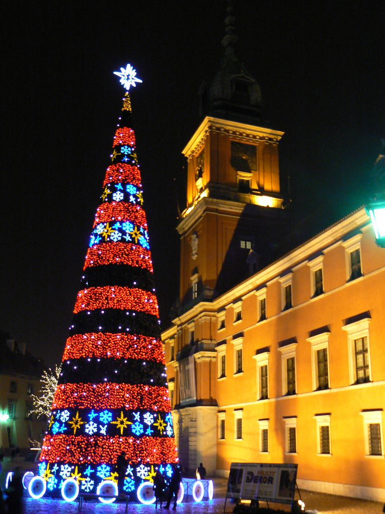 Christmas Tree in Warsaw's Castle Square