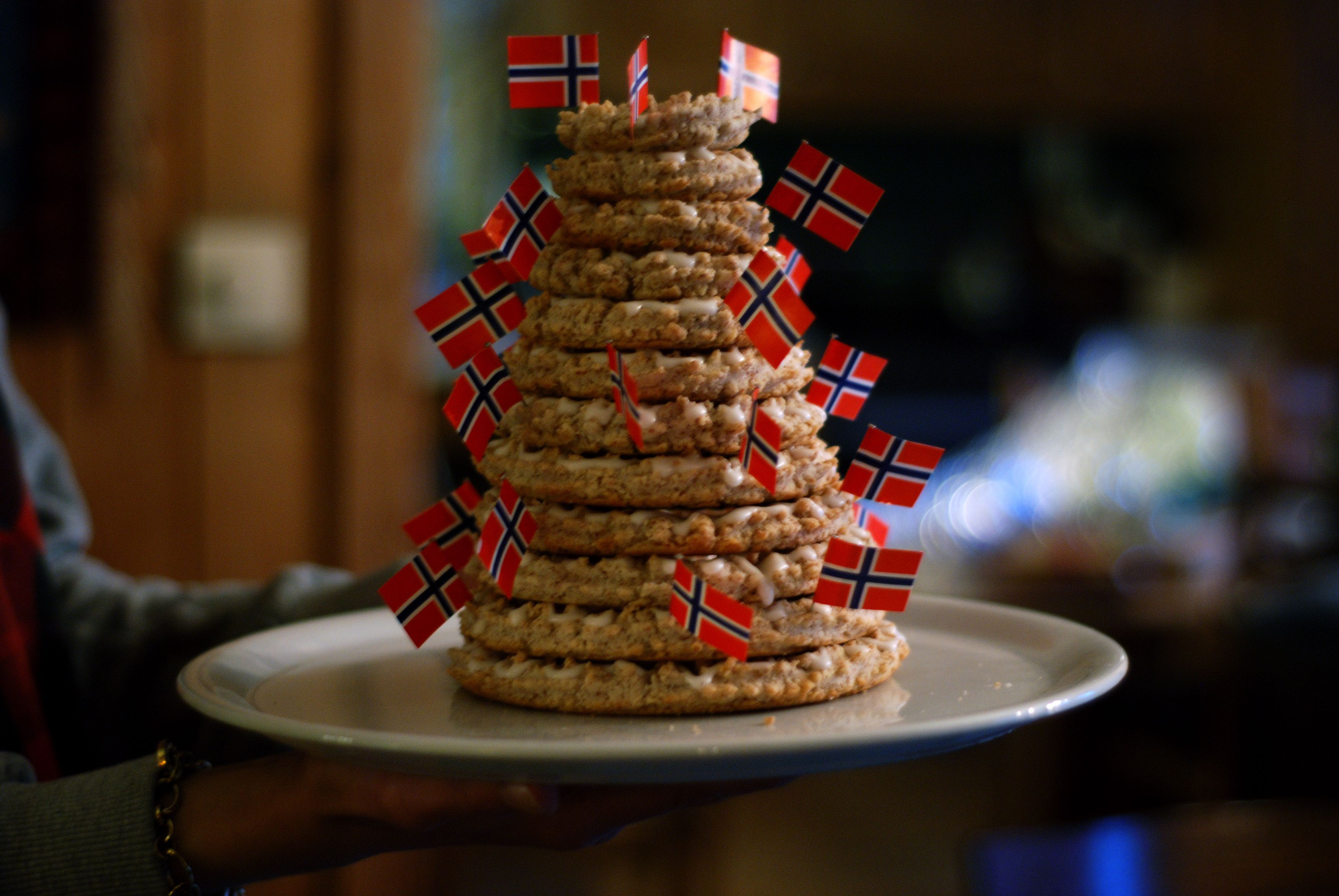 Norwegian Kransekake Almond Ring Cake Recipe