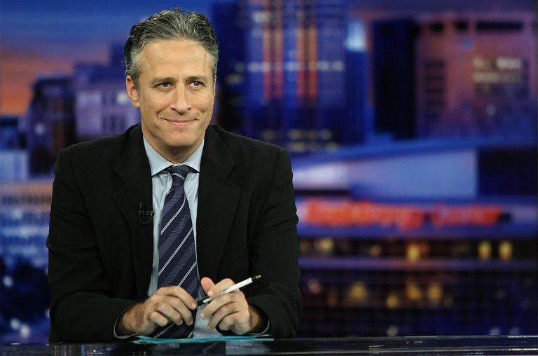 Host Jon Stewart tapes Comedy Central's 'The Daily Show with Jon Stewart