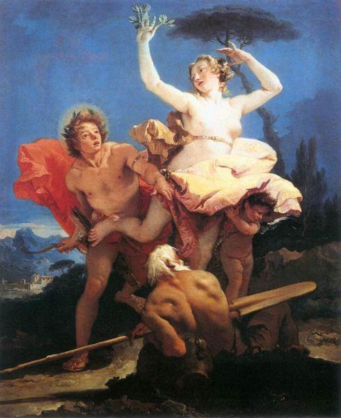 Apollo Chasing Daphne, by Gianbattista Tiepolo.