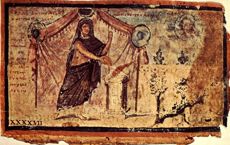 Achilles sacrificing to Zeus for Patroclus' safe return
