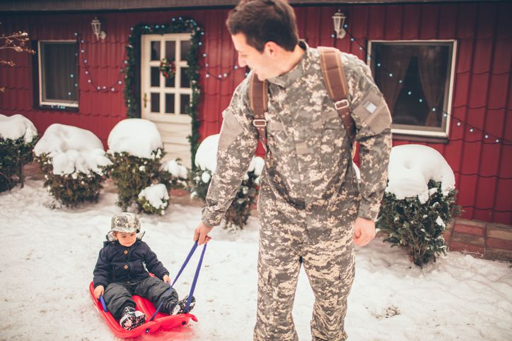 military dad holidays