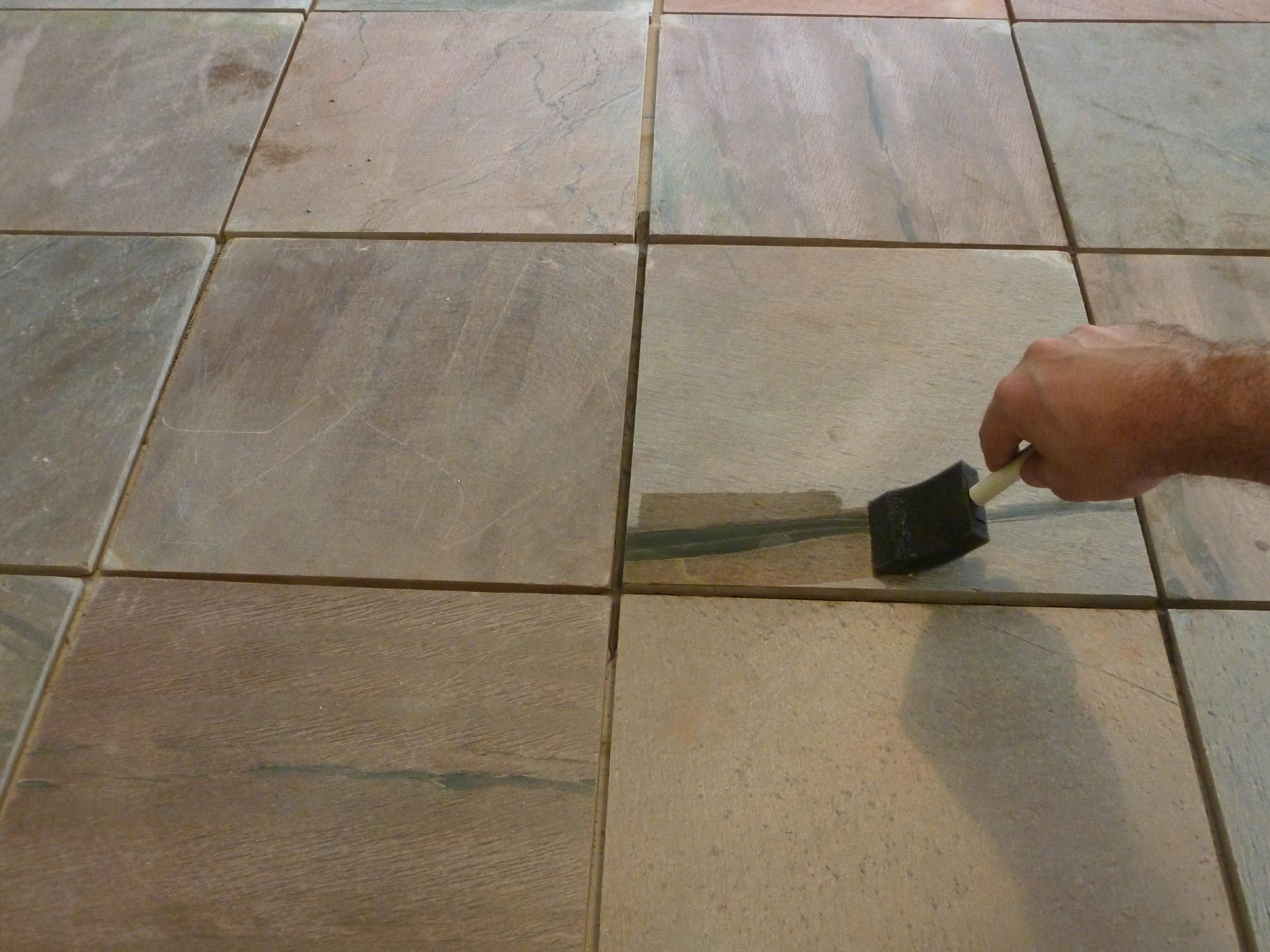 Installing slate tile step by step dailygadgetfo Image collections
