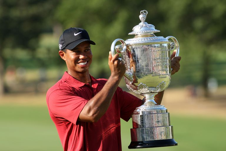 Tiger Woods after winning the 2007 PGA Championship
