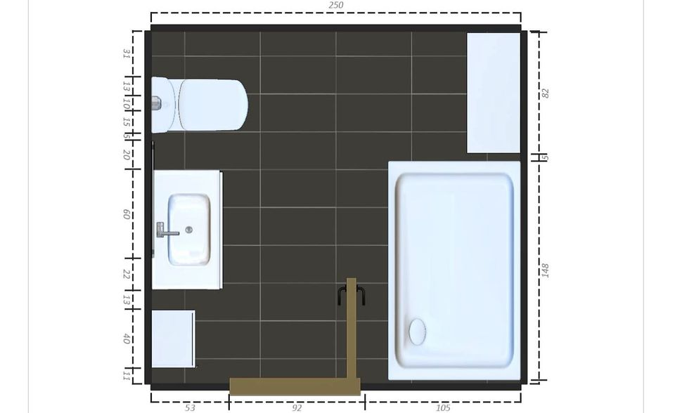 bathroom with larger shower - Bathroom Plans Free