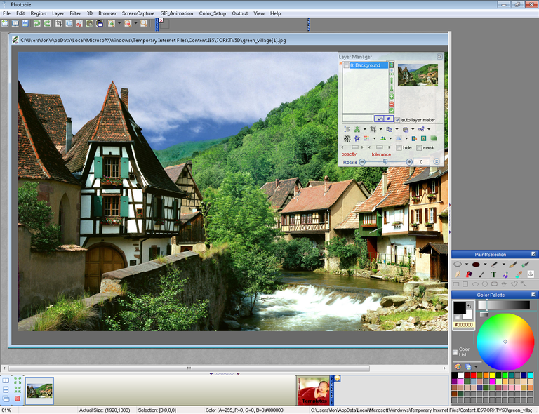 Screenshot of Photobie in Windows 7