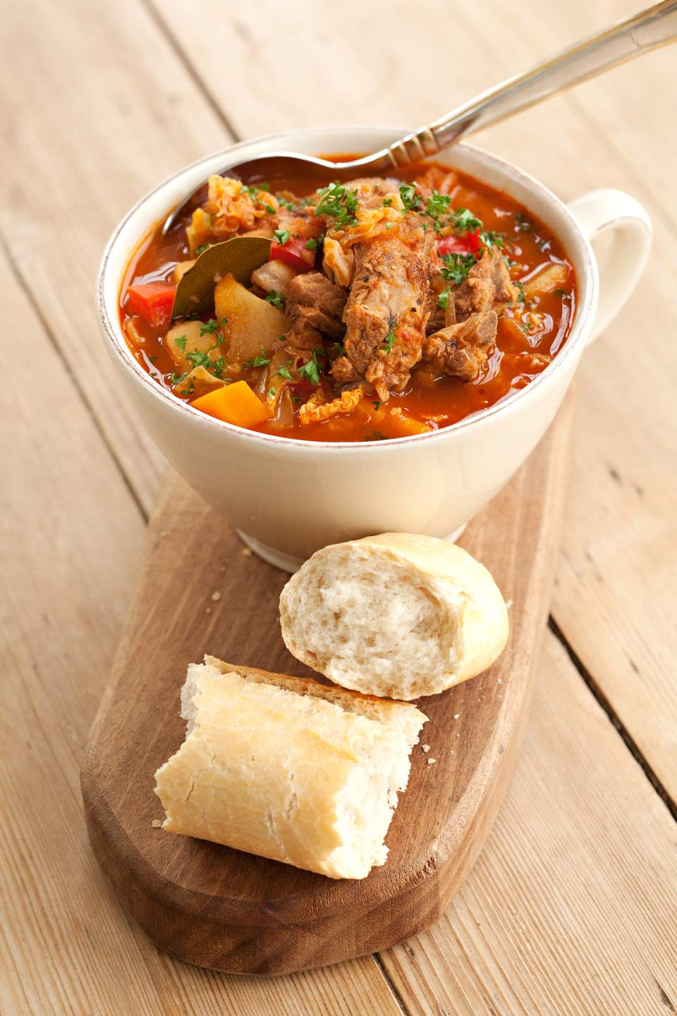 Cabbage soup with pork rib