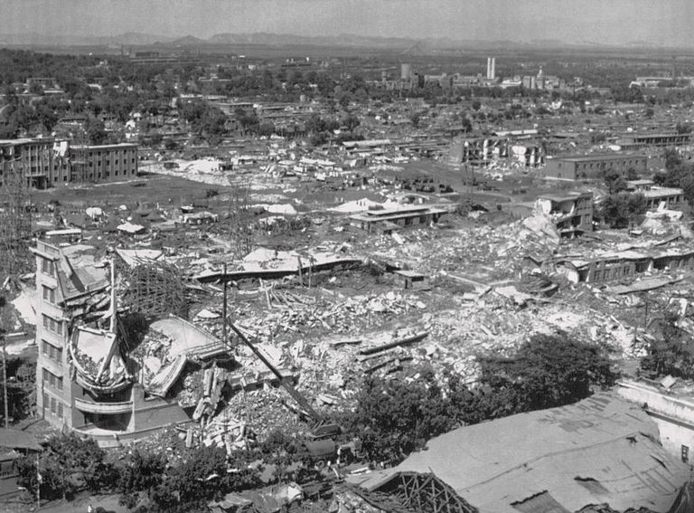 Afternath of the Tangshan earthquake, 1976