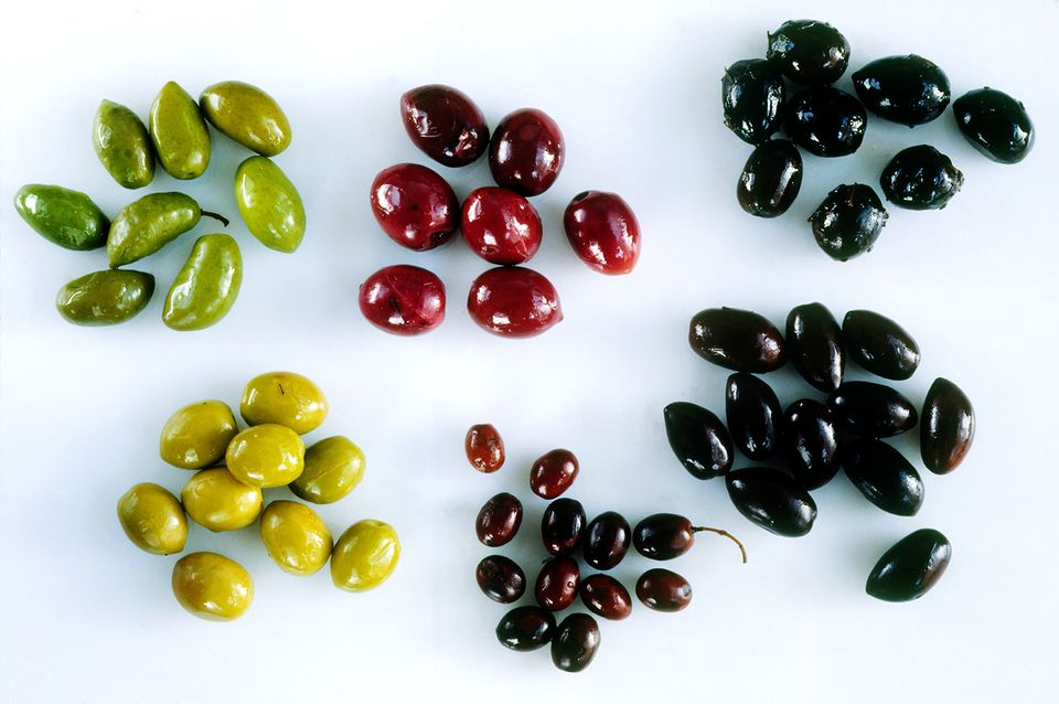 Different types of Olives