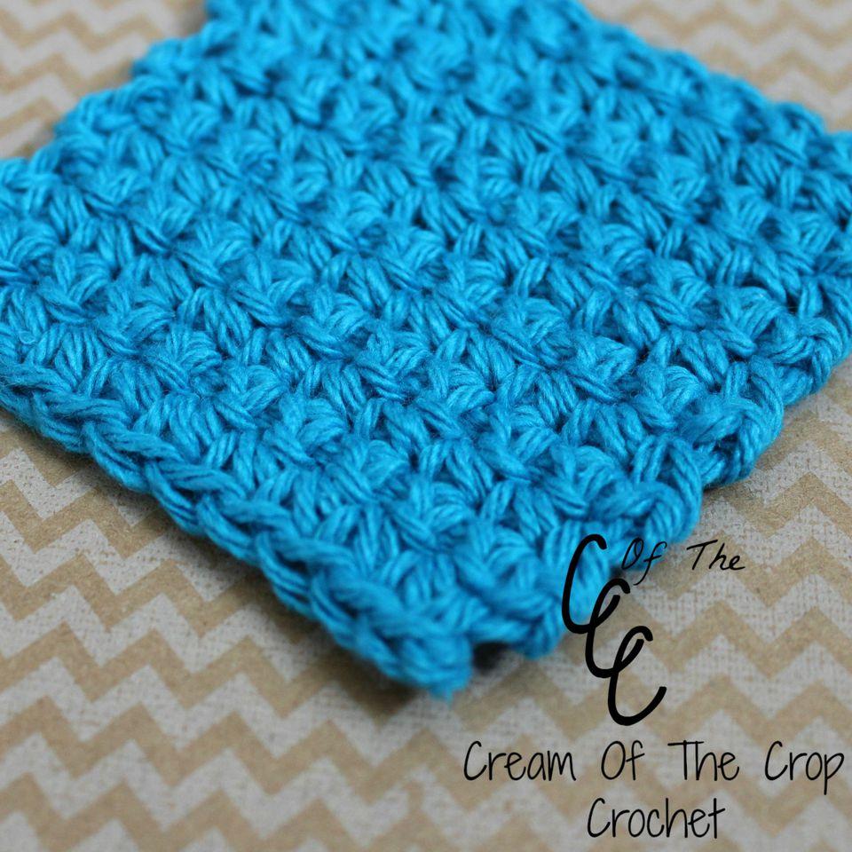 Single Crochet Face Scrubbie Free Pattern