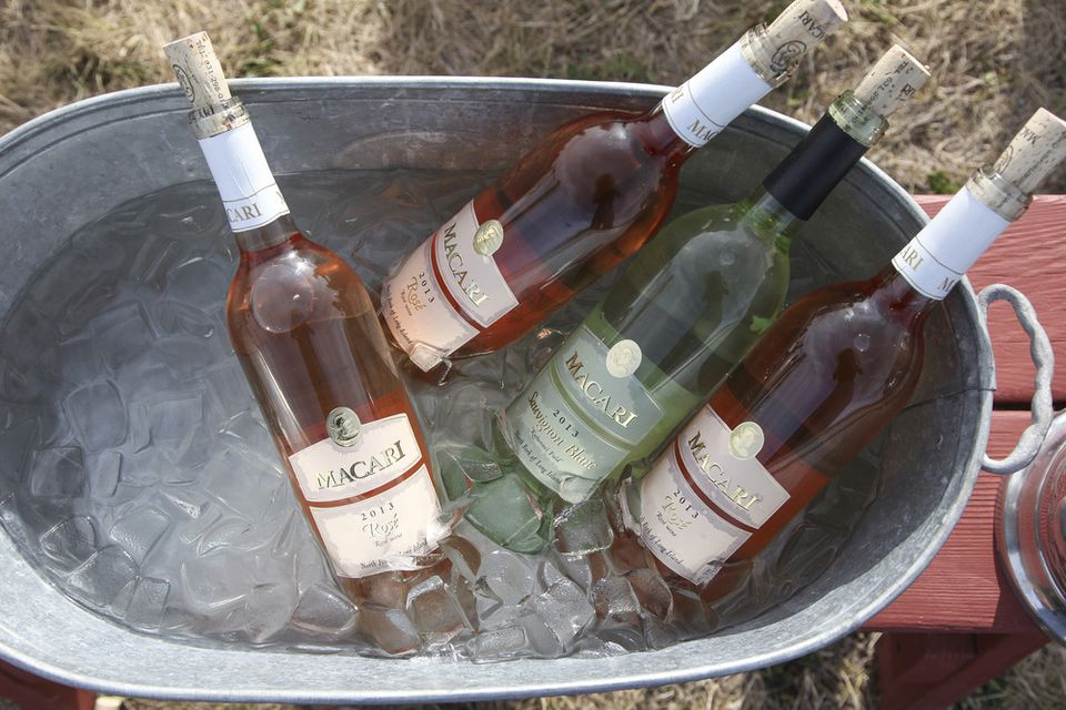 A great way to chill wine at an outdoor party