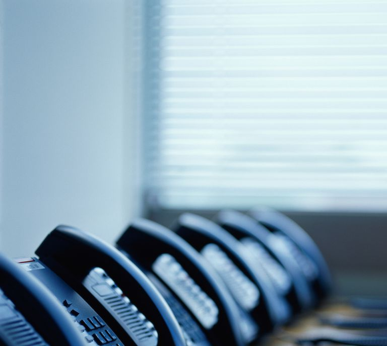 Row of Phones in PBX Environment