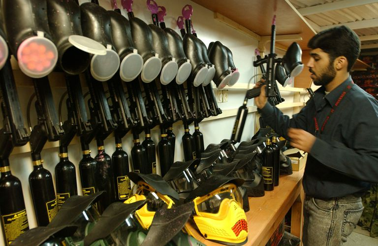 Paintball gun supplies