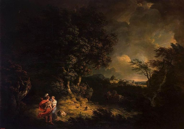 Thomas Jones - Landscape with Dido and Aeneas