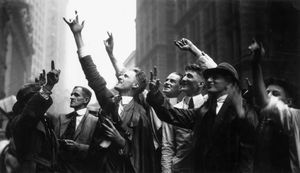 Wall Street traders in 1925
