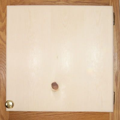 Unfinished Slab-Style Cabinet Door