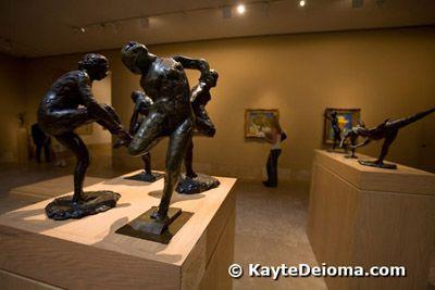 Edgar Degas' bronze modèles at the Norton Simon Museum