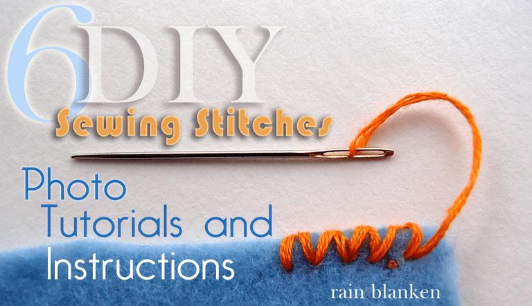 DIY Sewing Stitch Tutorials