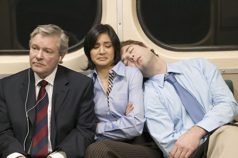 sleeping on commute