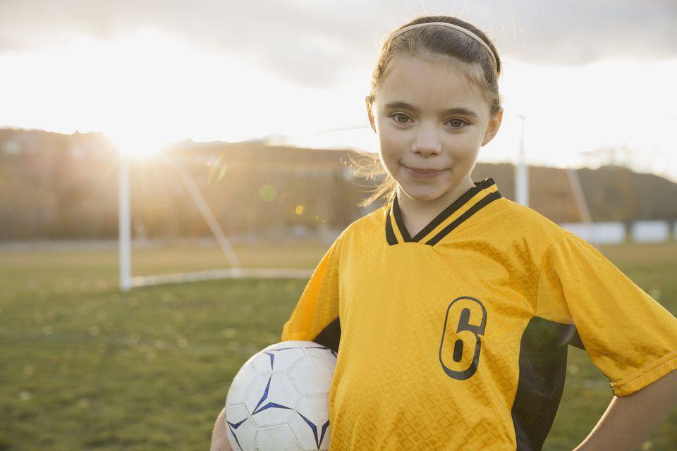 Determine child soccer player