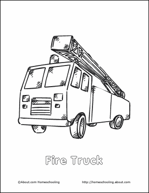 fire prevention coloring page fire truck