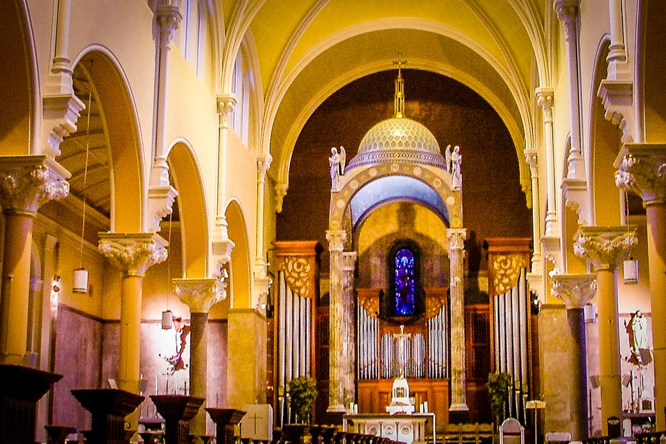 Why not get married in Dublin's Whitefriar Street Church? After all, Saint Valentine, patron saint of lovers, has his shrine here