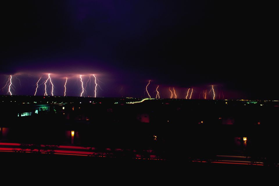 Lightning Storm Over Minneapolis