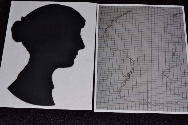 Jane Austen Silhouette Chart