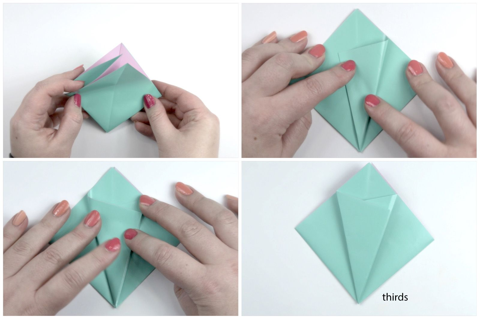 How to make an easy origami flower jeuxipadfo Gallery