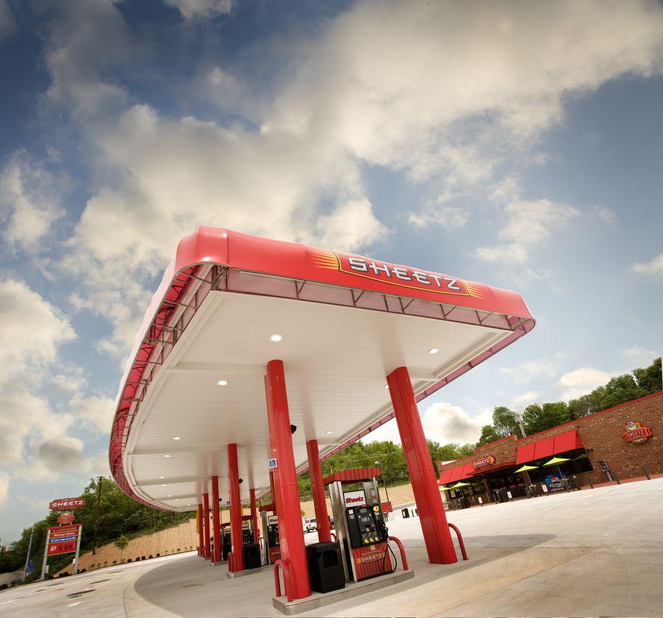 Gas pumps at Sheetz.