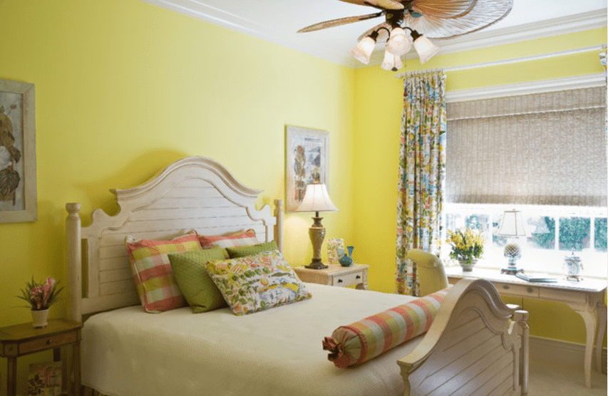 yellow tropical themed bedroom - Yellow Themed Bedroom