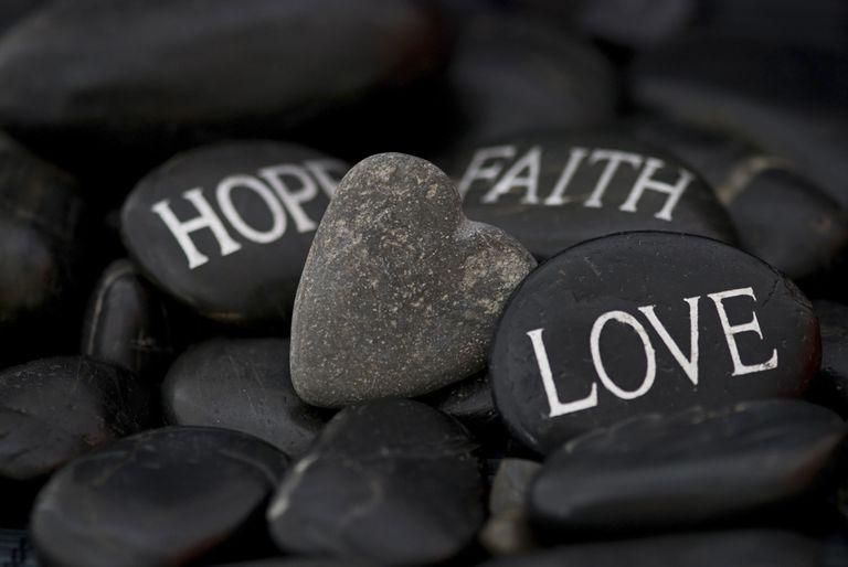Faith, Hope, Love on Stones