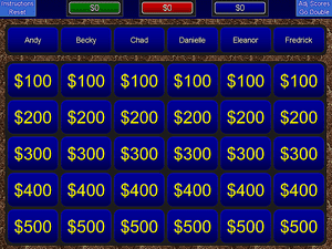 9 free jeopardy templates for the classroom screenshot of a blue jeopardy powerpoint template toneelgroepblik Choice Image