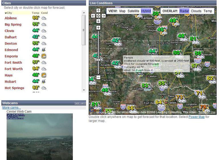 Weatherbonk Web Mashup